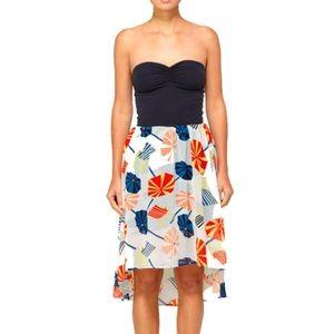 NWT Quiksilver Beach Bella strapless dress S